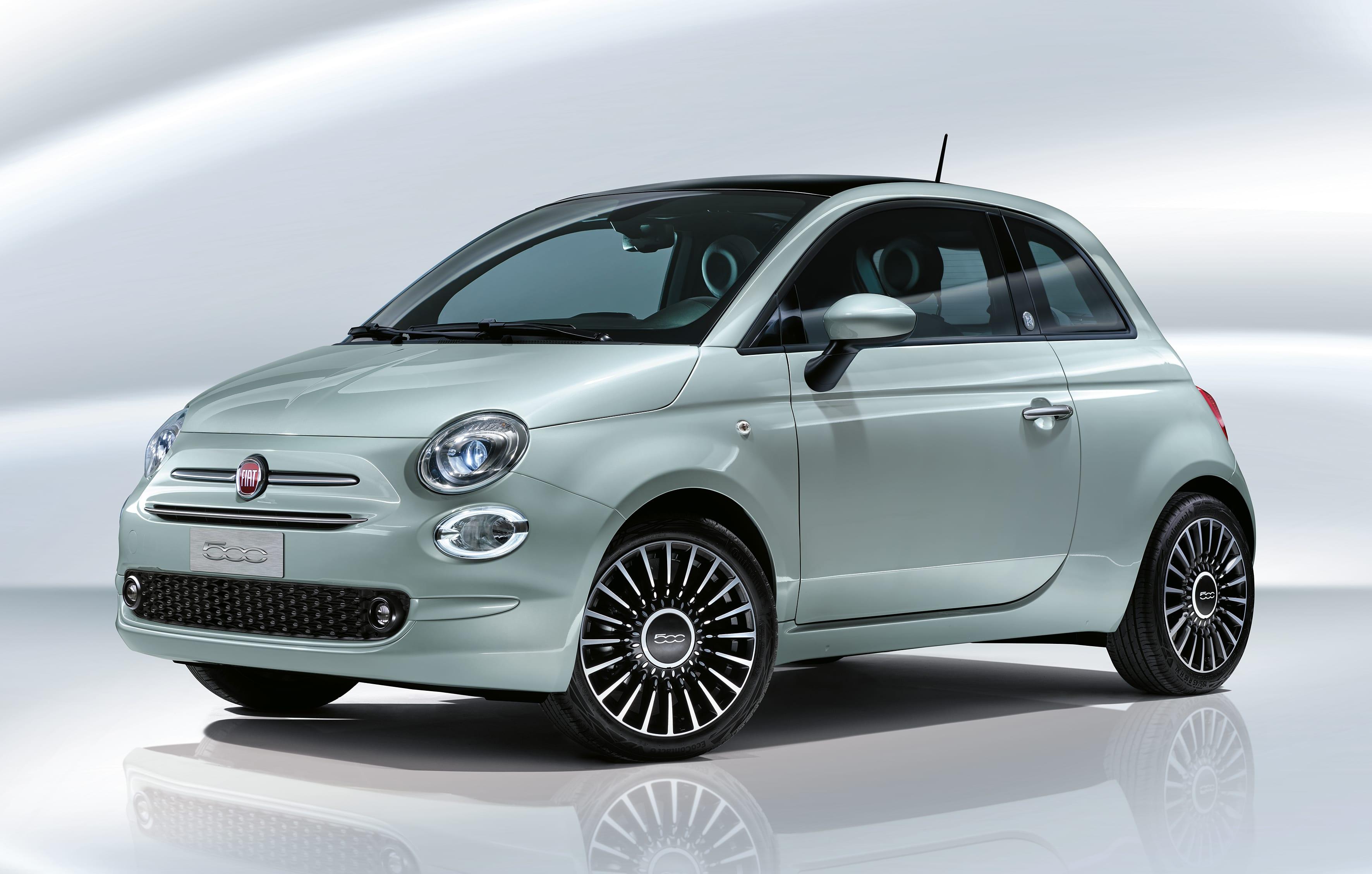 Fiat 500 hybrid launch edition - schuin voorkant