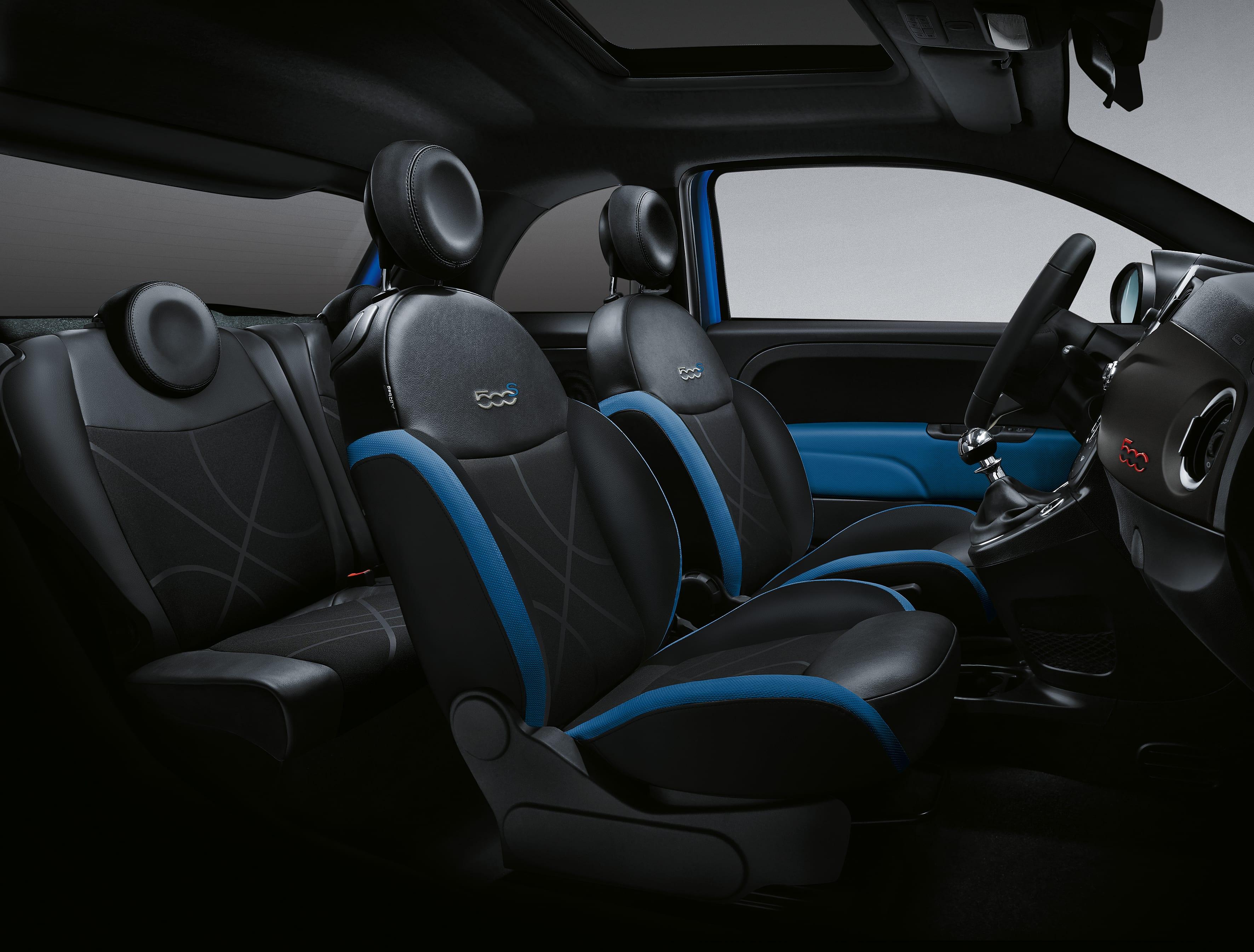 Fiat 500 interieur sport/rockstar