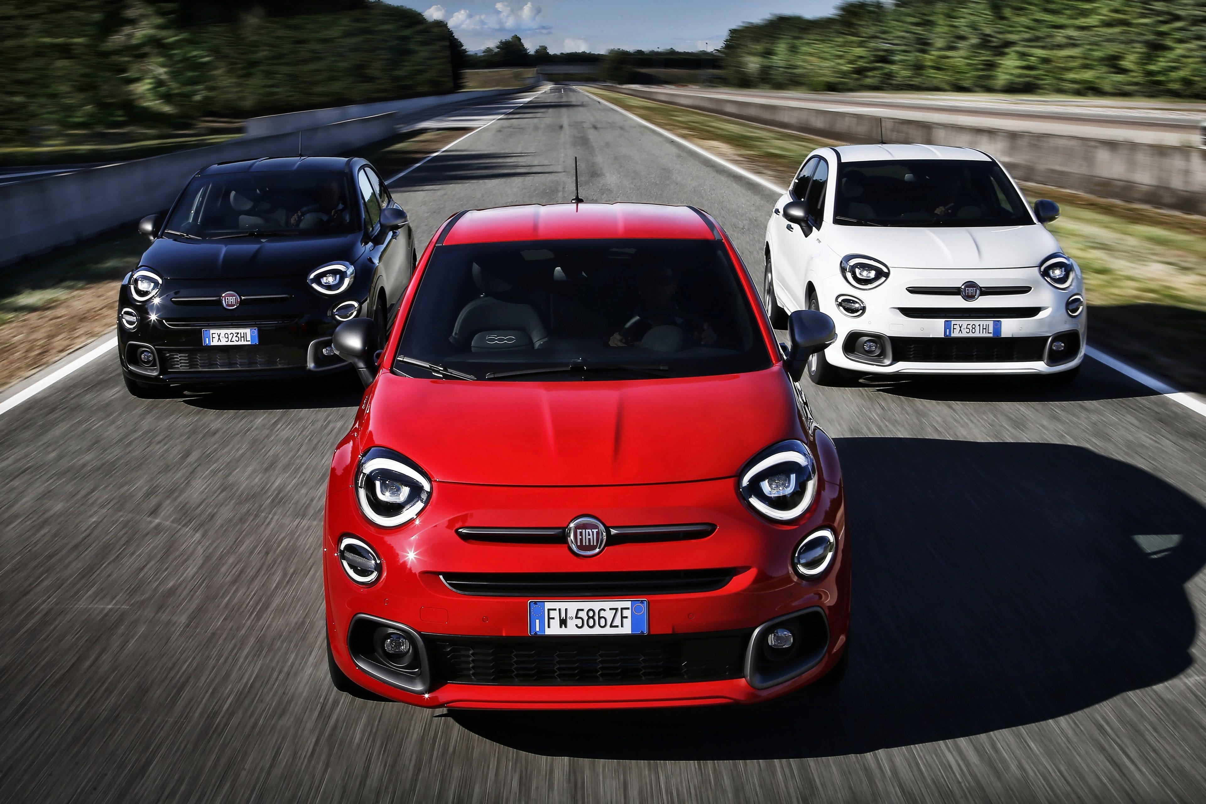 Fiat 500X Sport drie kleuren
