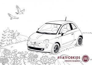 Fiat 500 kleurplaat