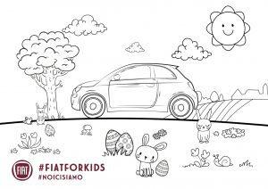 Fiat 500 kleurplaat - pasen