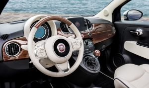 Fiat 500 Riva binnenkant