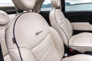 Fiat 500 riva lederen interieur