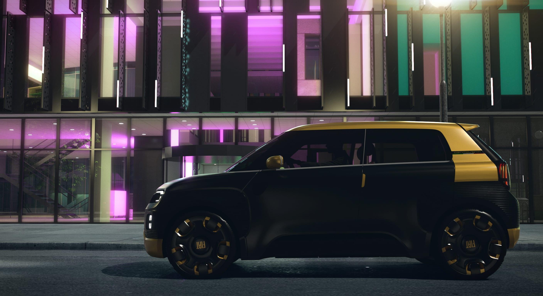 Fiat Concept Centoventi - zwart met geel