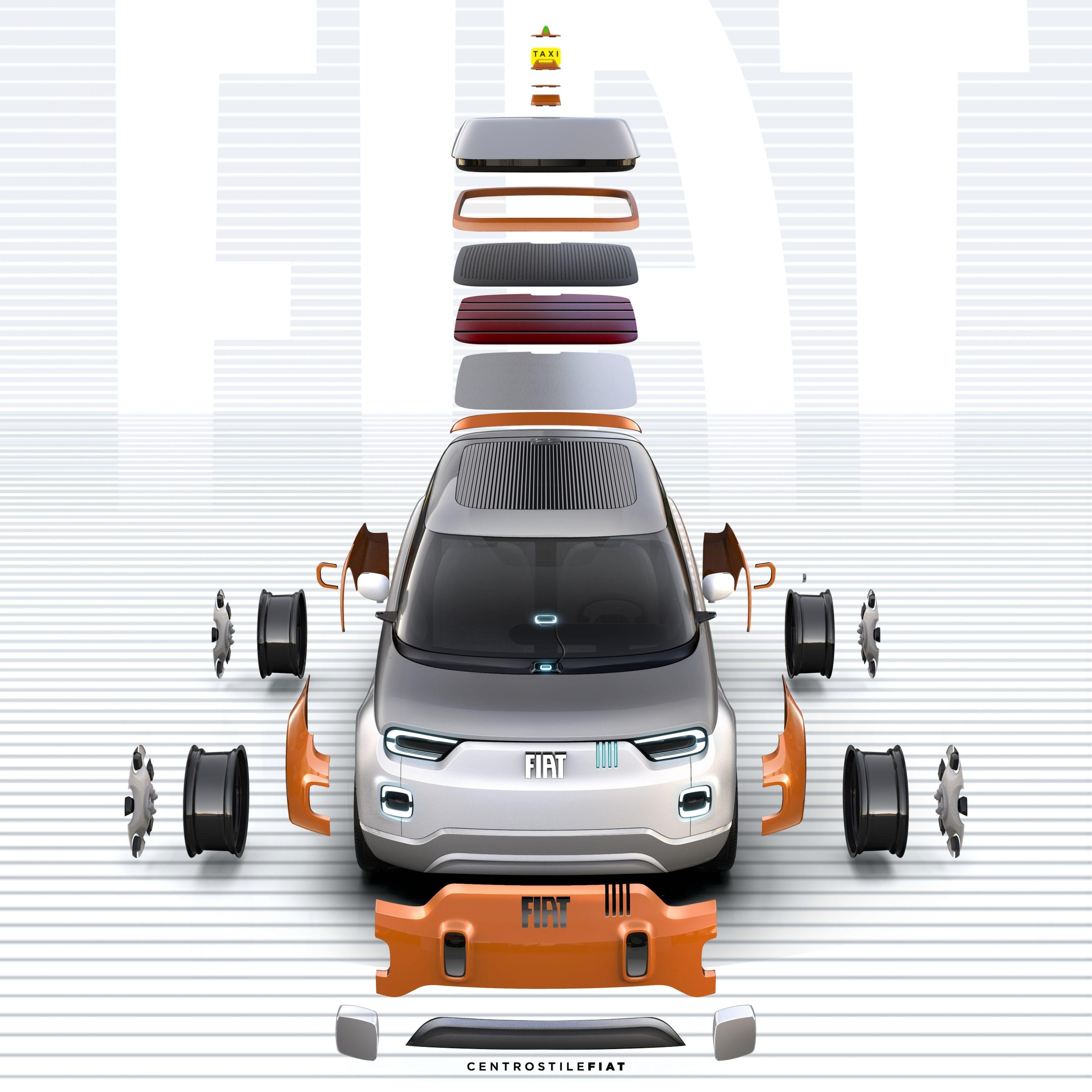 Fiat Concept Centoventi - onderdelen