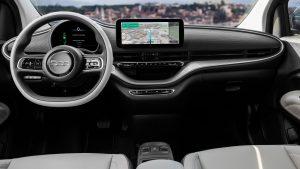 New Fiat 500e hatchback dashboard