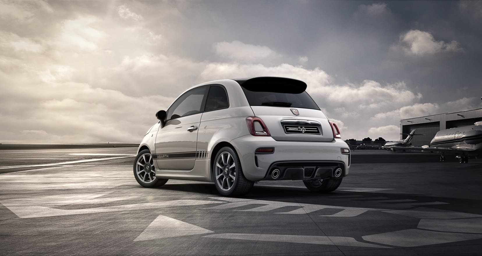 Abarth 595 Wit - achterkant