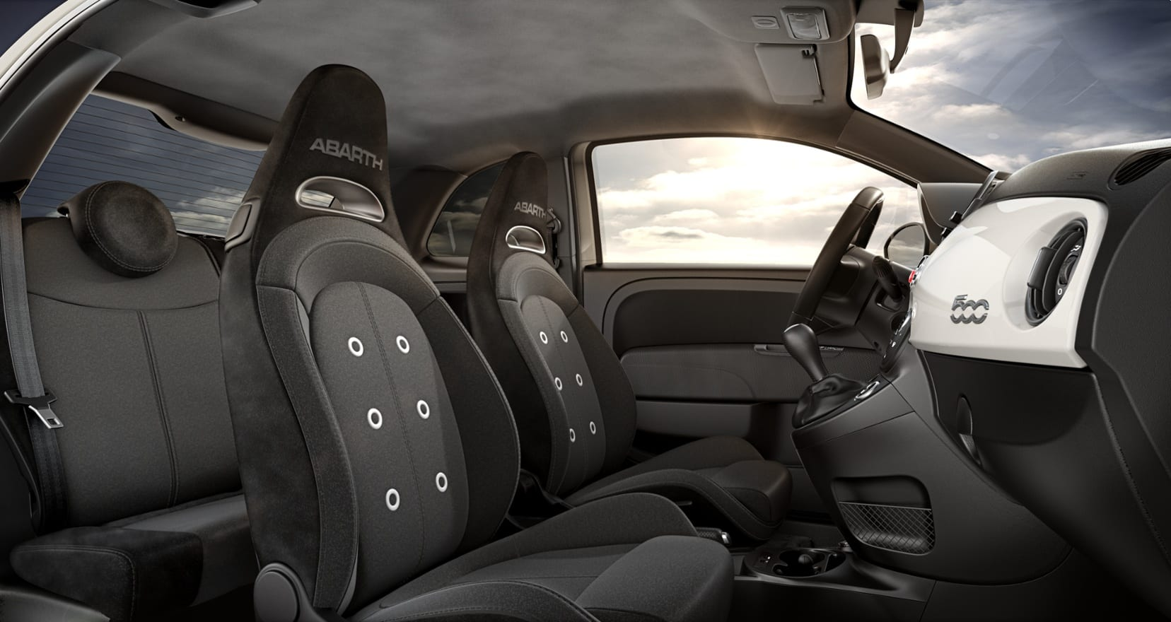 Abarth 595 Wit - interieur