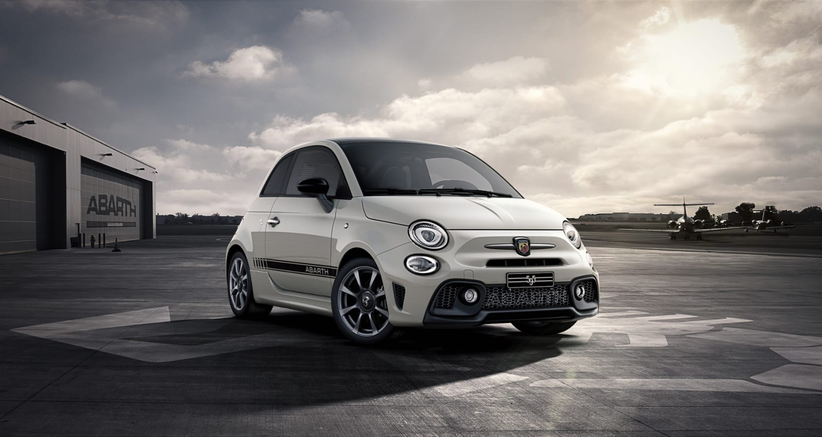 Abarth 595 Wit - voorkant