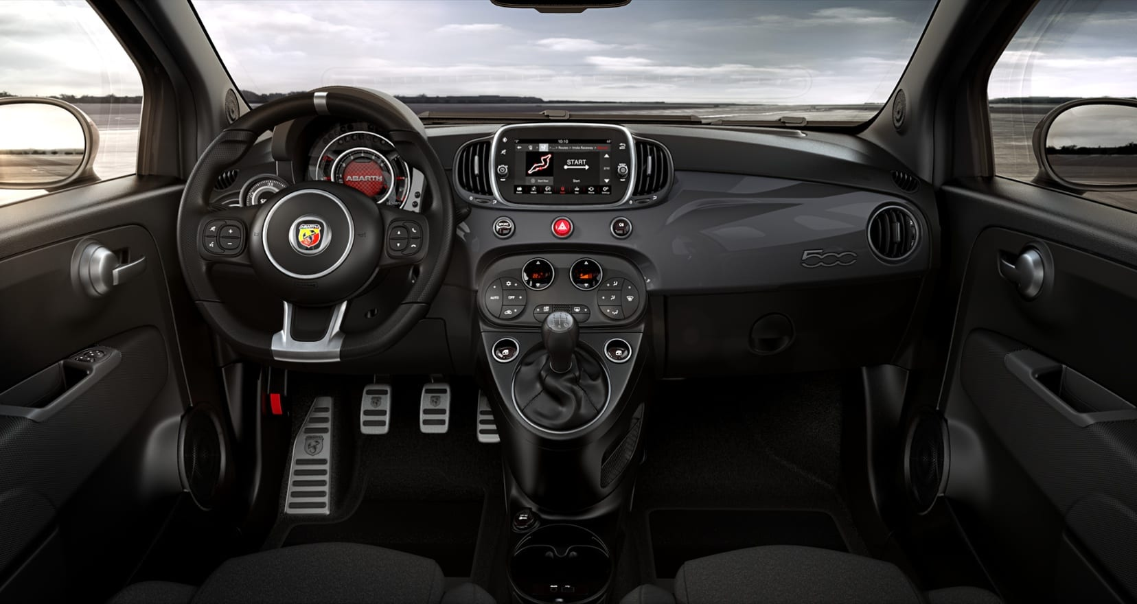 Abarth-595C-grijs-dashboard