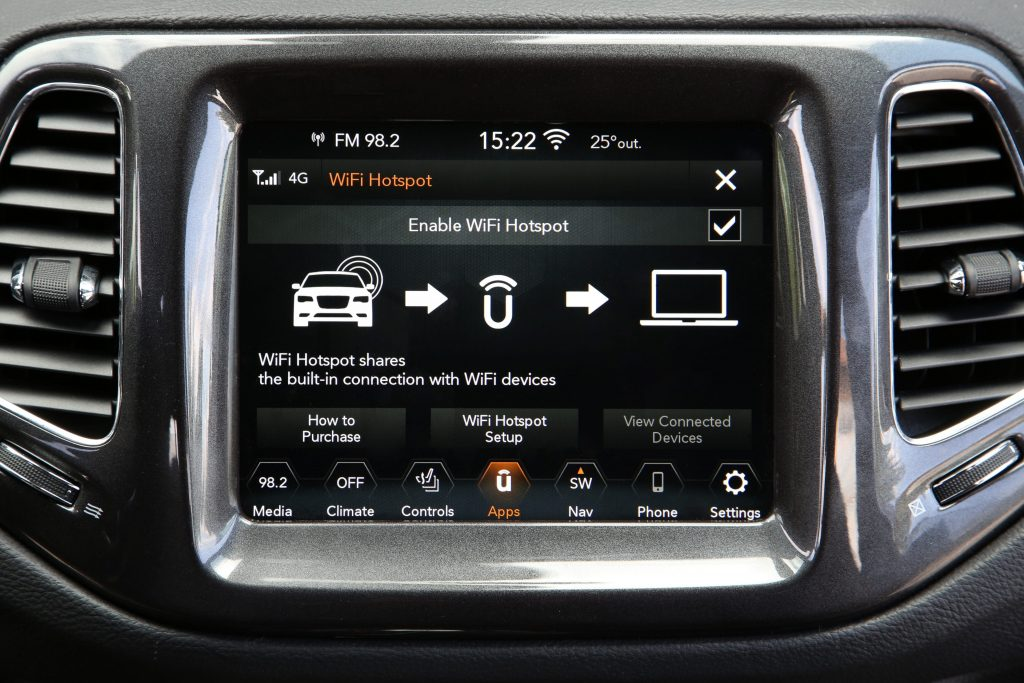 New Jeep Compass 2020 - Wifi hotspot