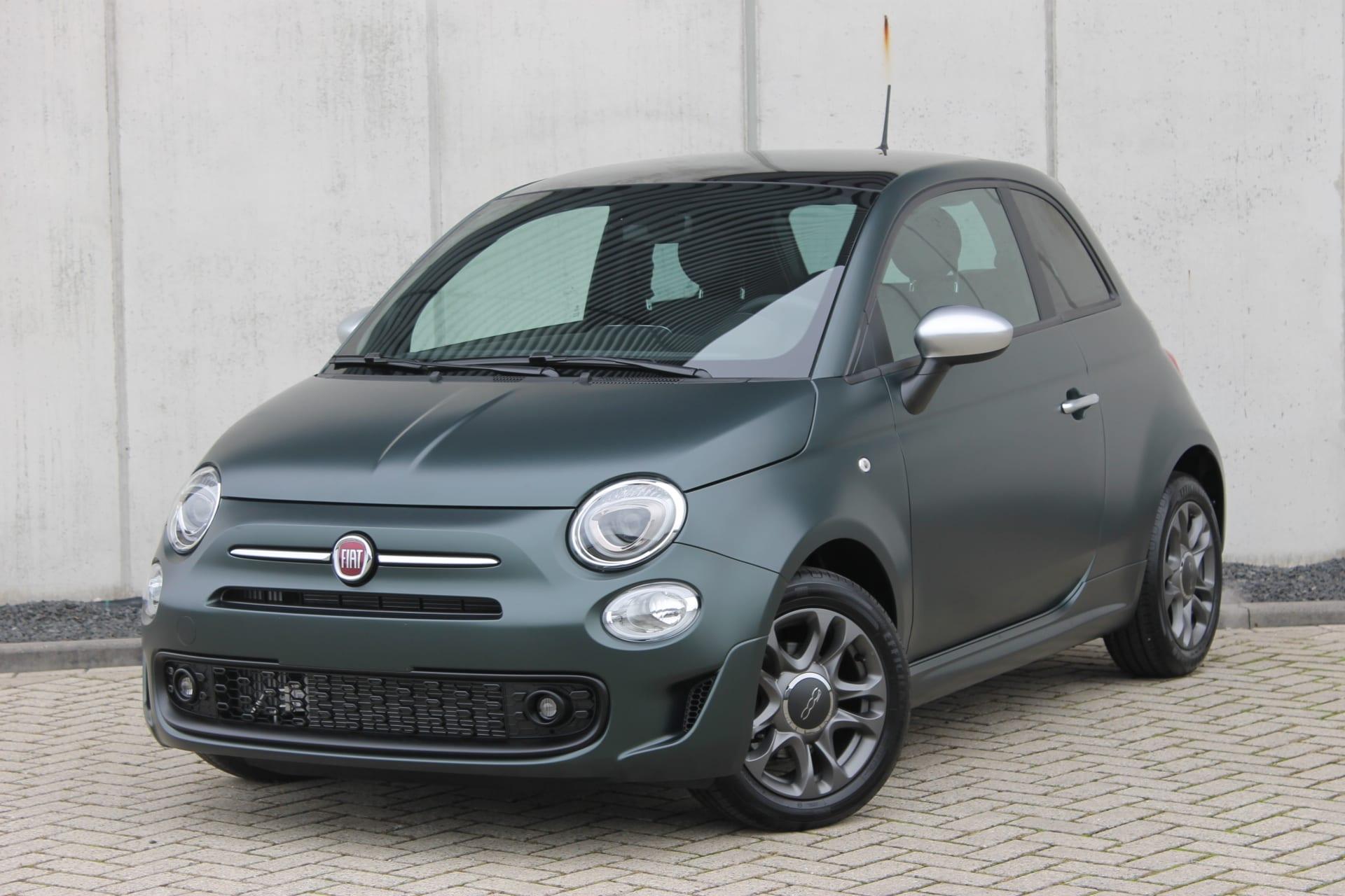 Fiat 500 Rockstar matgroen - voorkant