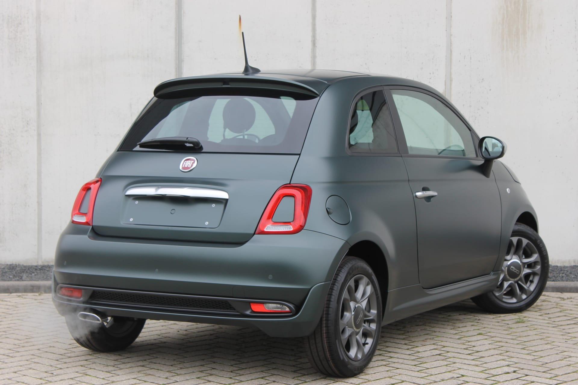 Fiat 500 Rockstar matgroen - achterkant