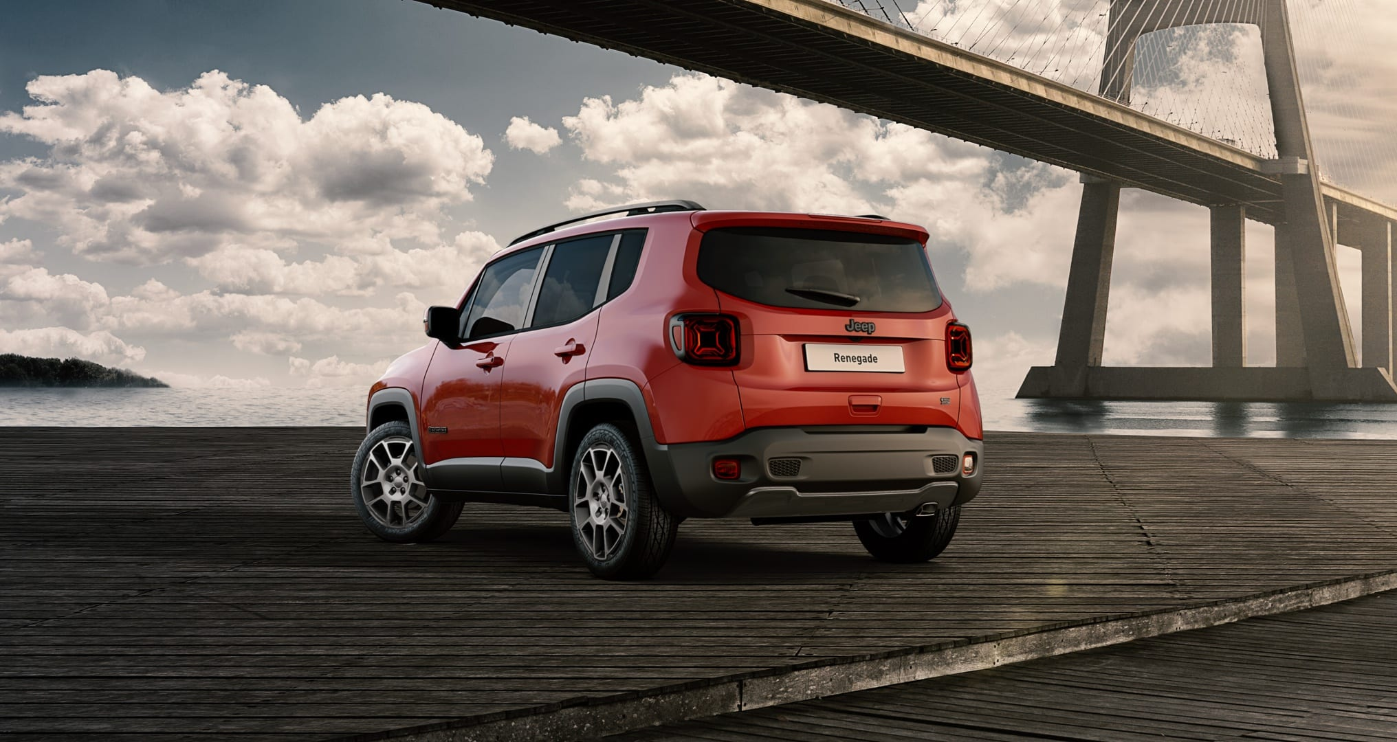 Jeep Renegade S Colorado Red - achterkant