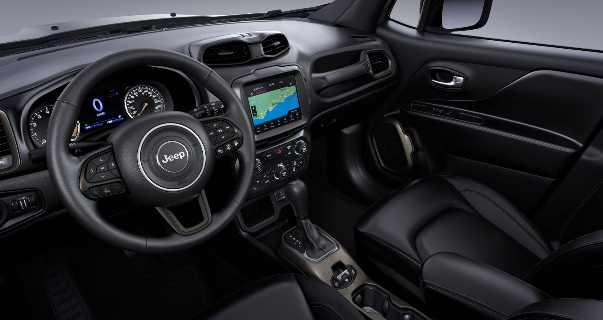 Jeep Renegade S Sting Grey - dashboard schuin