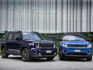Jeep_Compass-Renegade_4xe Modellen blauw