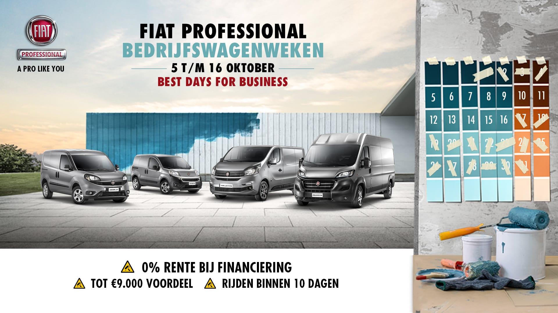 Fiat Professional - bedrijfswagenweken oktober 2020