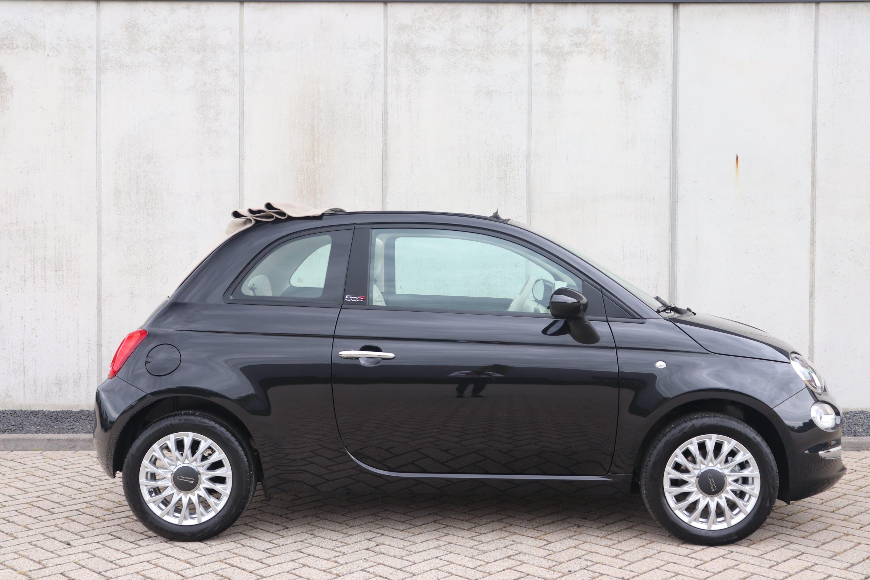 Fiat 500C Hybrid Lounge zwart - zijaanzicht