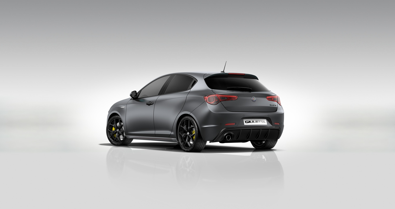 Alfa Romeo Giulietta Sprint Matgrijs - Schuin achteraanzicht