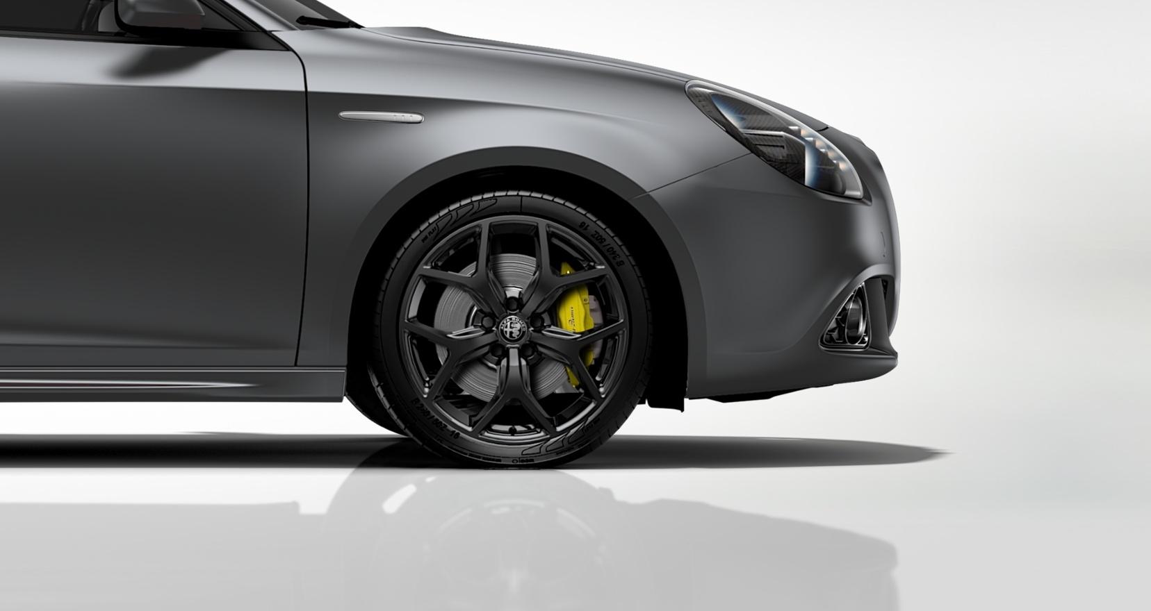 Alfa Romeo Giulietta Sprint Matgrijs - close up velgen
