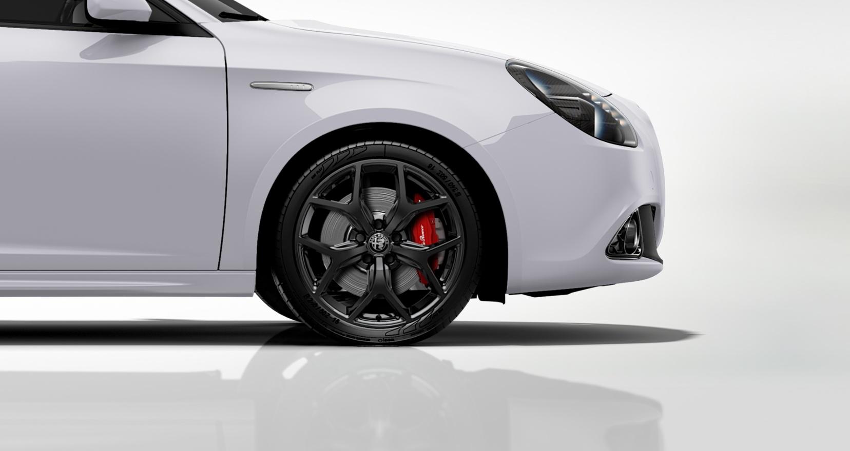 Alfa Romeo Giulietta Sprint wit - close up velgen