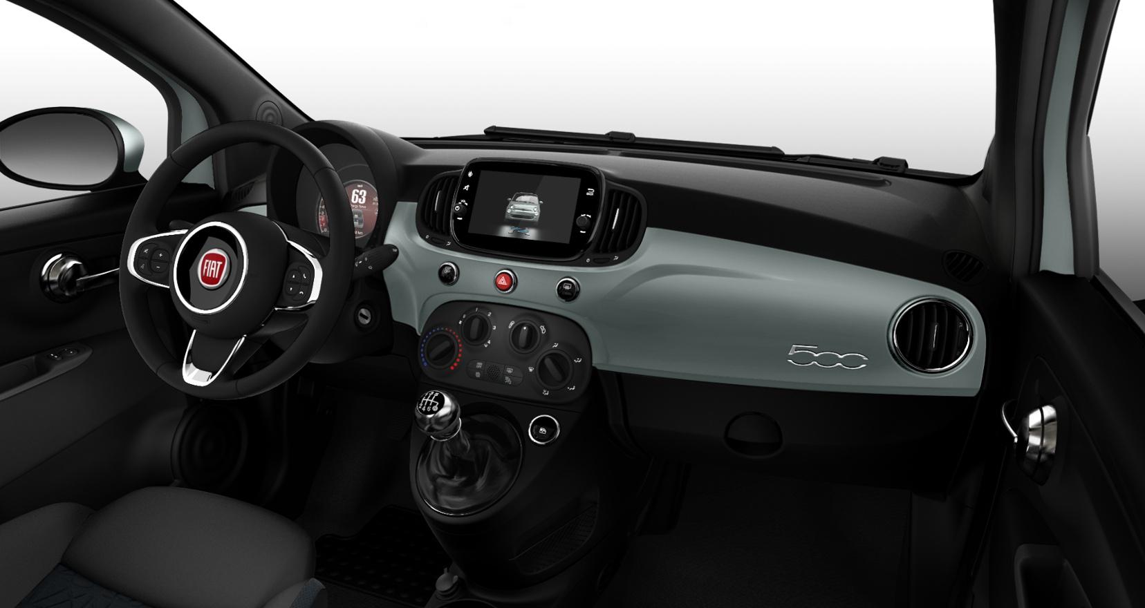 Fiat 500 hybrid launch edition - interieur dashboard