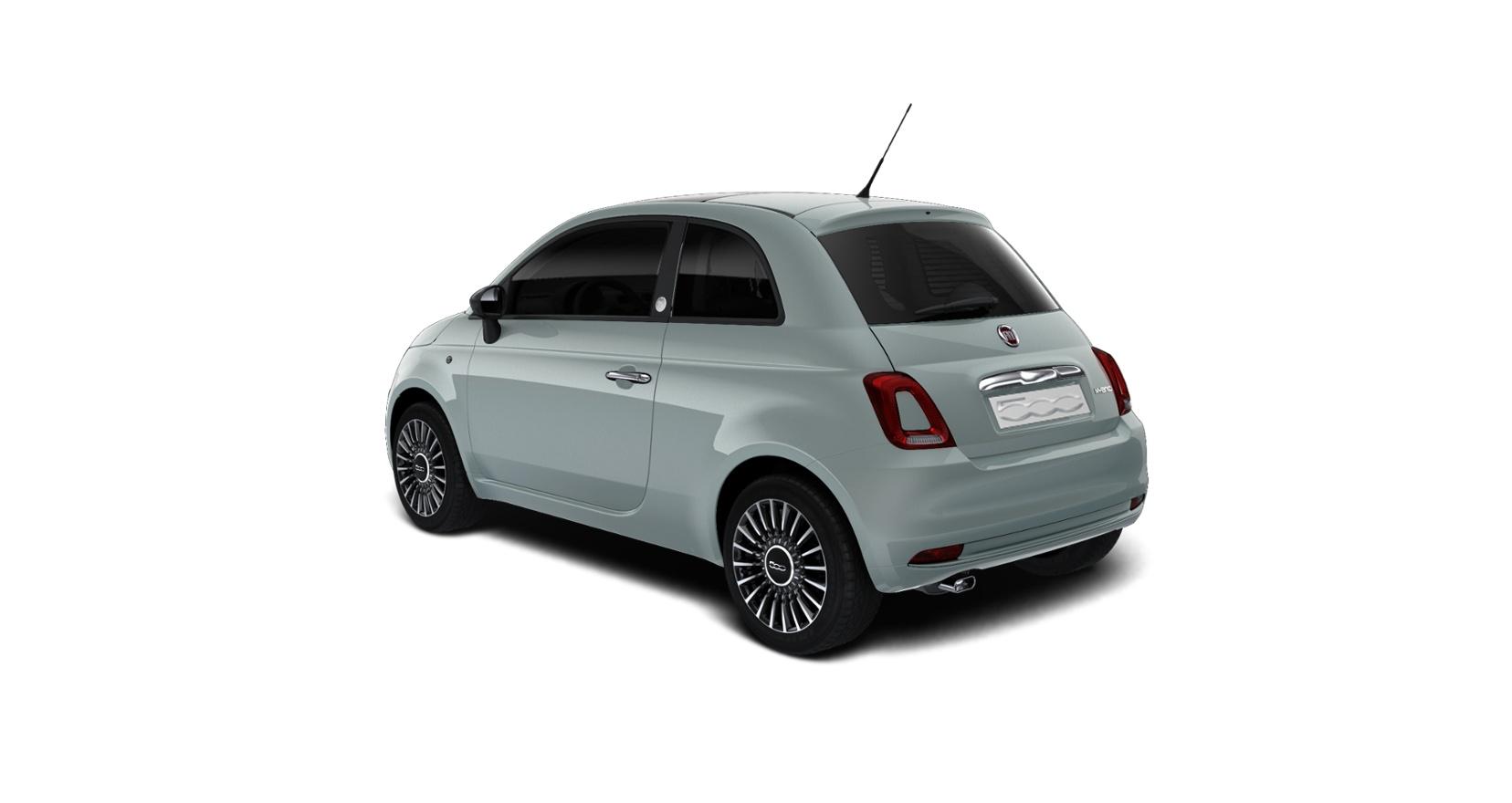 Fiat 500 hybrid launch edition - schuin achteraanzicht