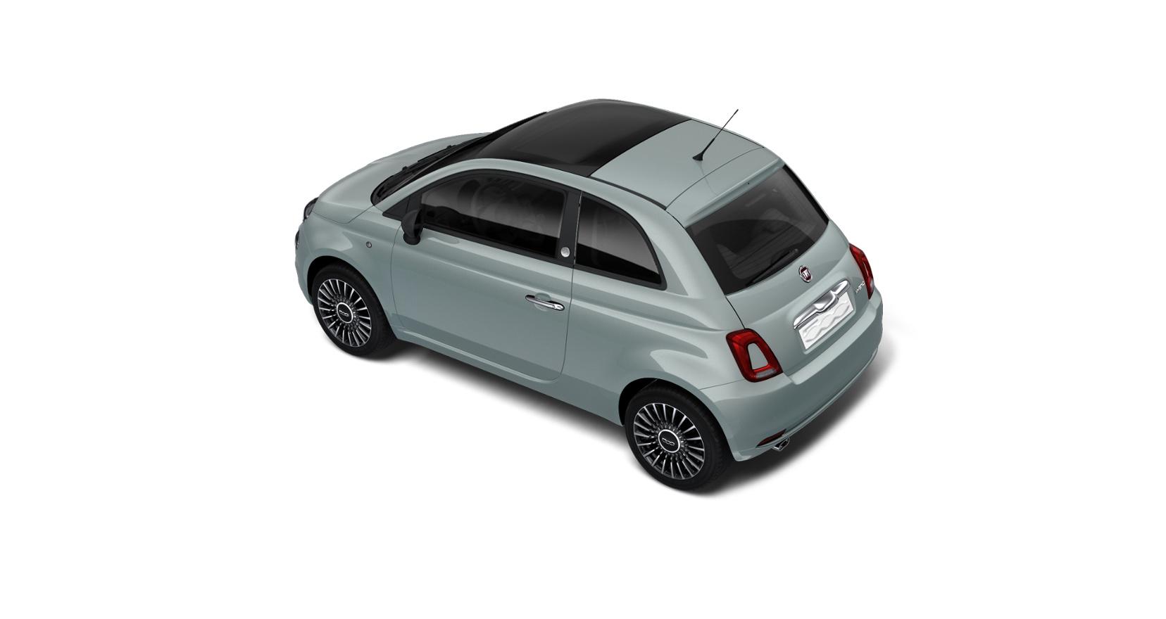 Fiat 500 hybrid launch edition - schuin bovenaanzicht