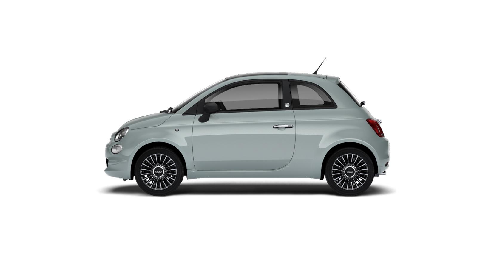 Fiat 500 hybrid launch edition - zijkant