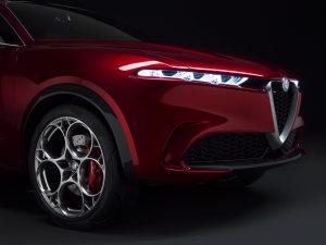 Alfa Romeo Tonale Concept - close up schuin voorkant