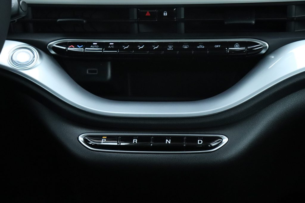 Fiat 500E Ice White Business Edition - close up dashboard