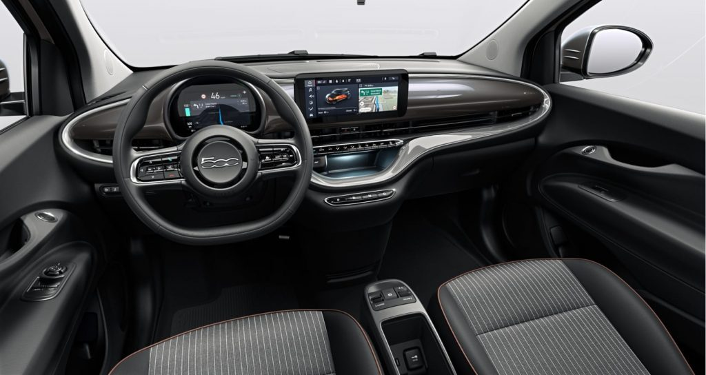 Fiat 500e earth grey - interieur