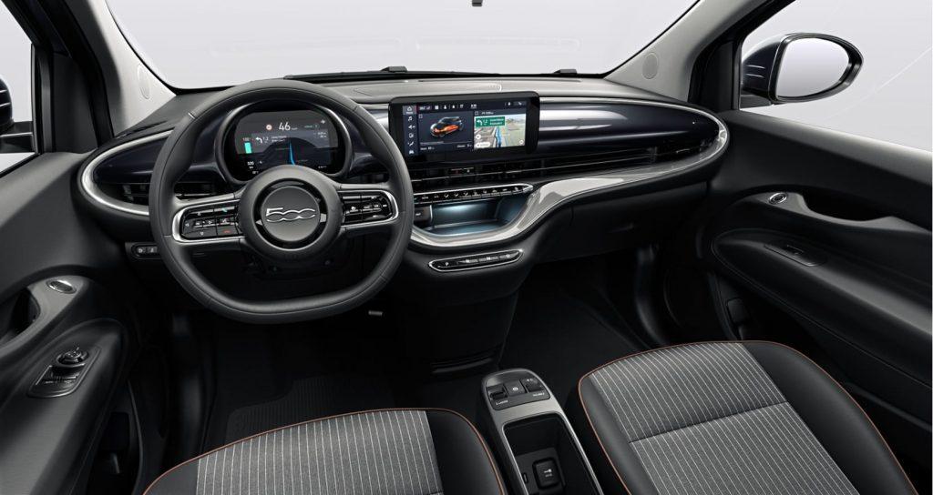 Fiat 500e onyx black - interieur