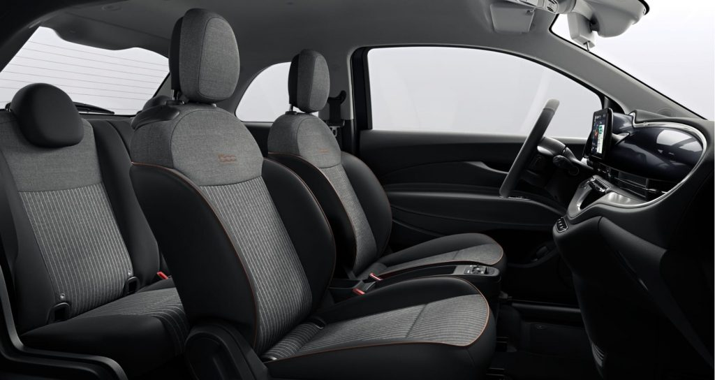 Fiat 500e onyx black - interieur 2