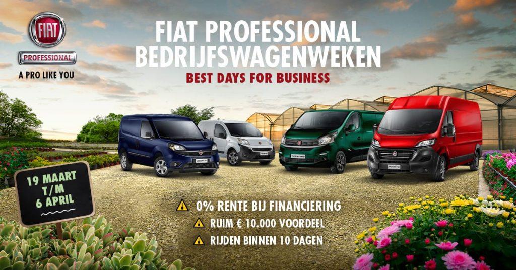 Fiat Professional gamma 1 - bedrijfswagenweken maart