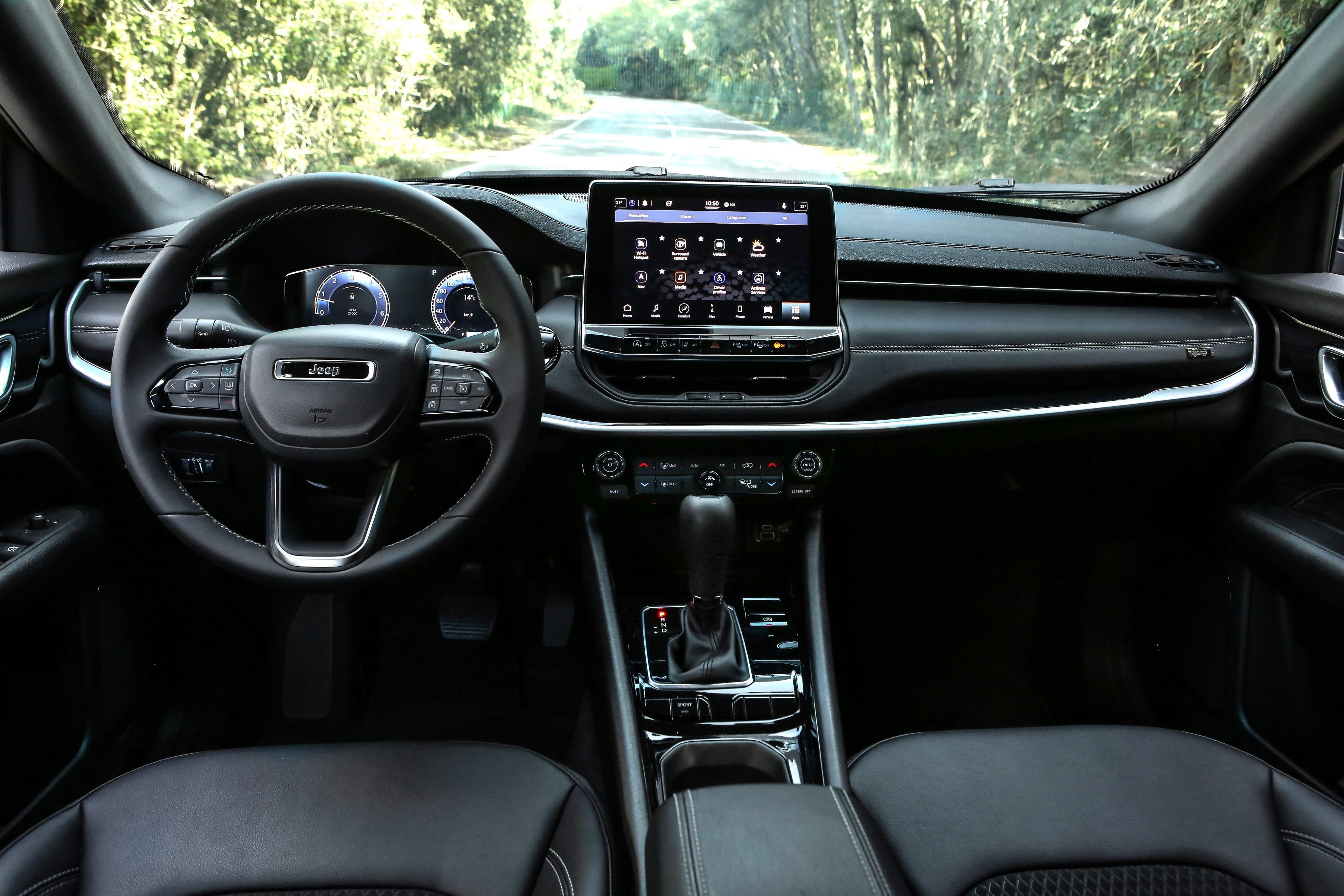 New Jeep Compass 80th Anniversary - overzicht nieuw dasboard