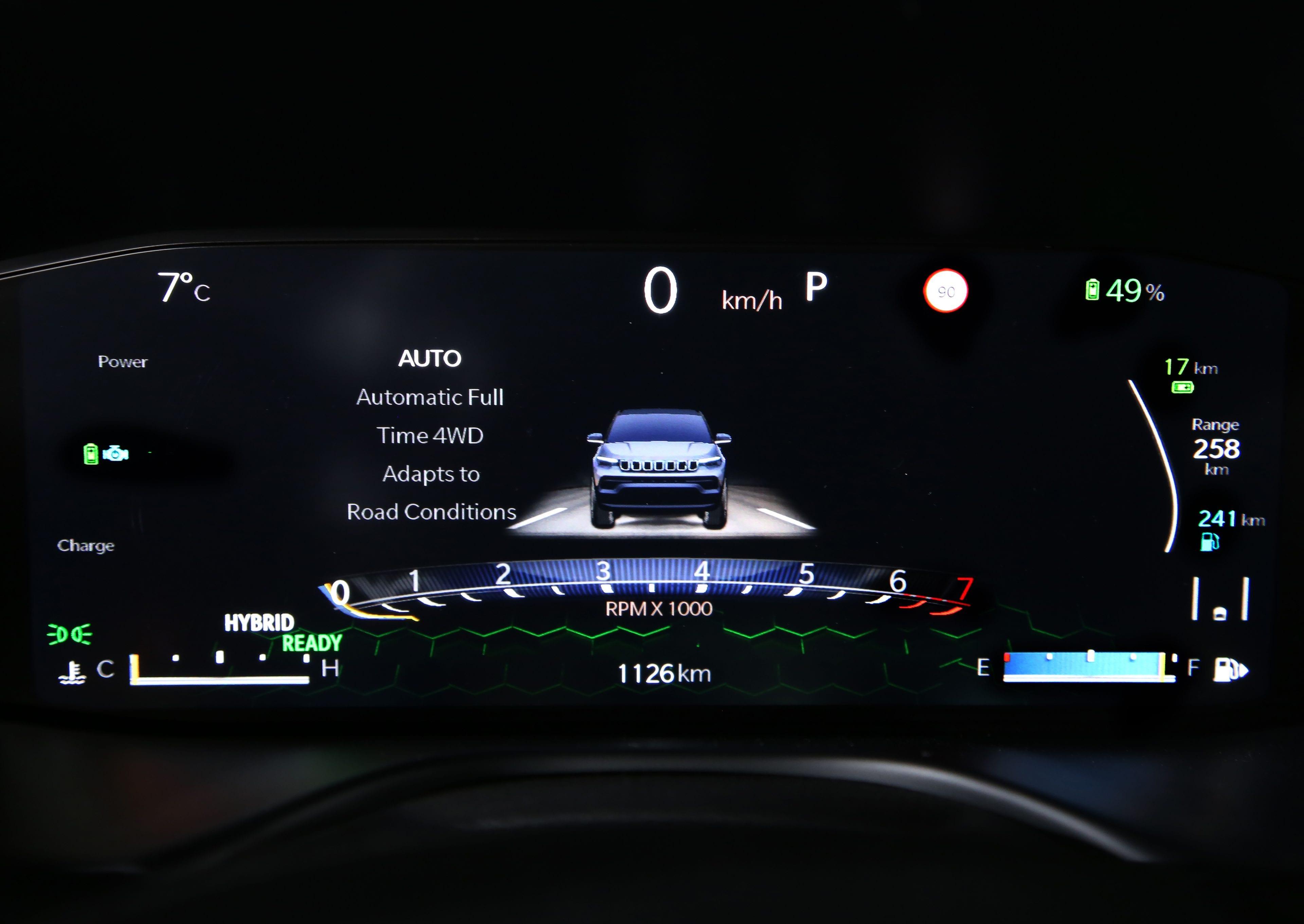 New Jeep Compass - digitaal instrumentenpaneel