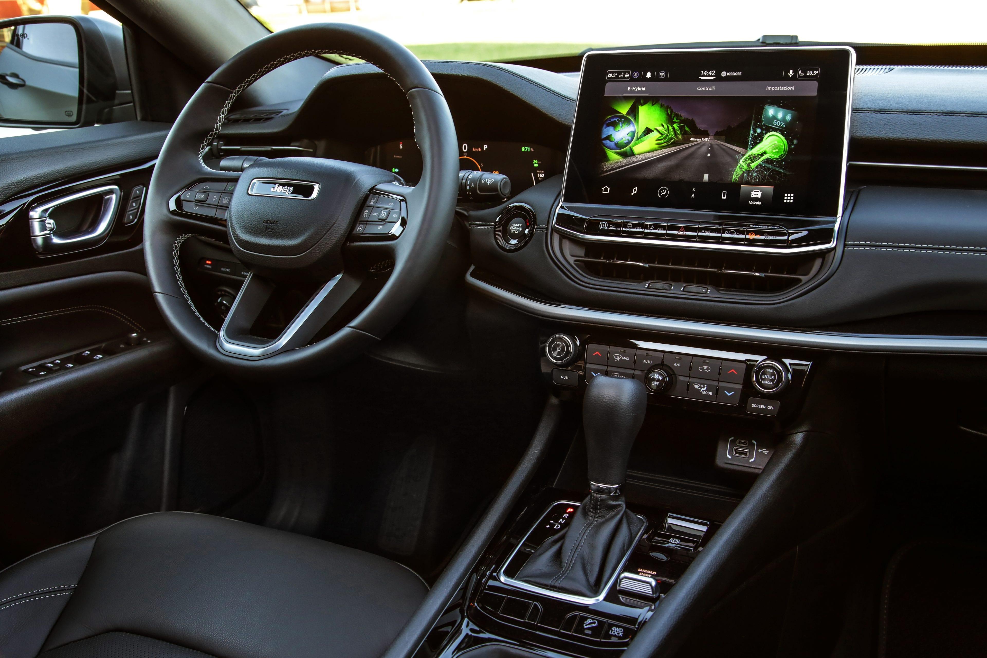 New Jeep Compass 80th Anniversary 4xe - dashboard overzicht