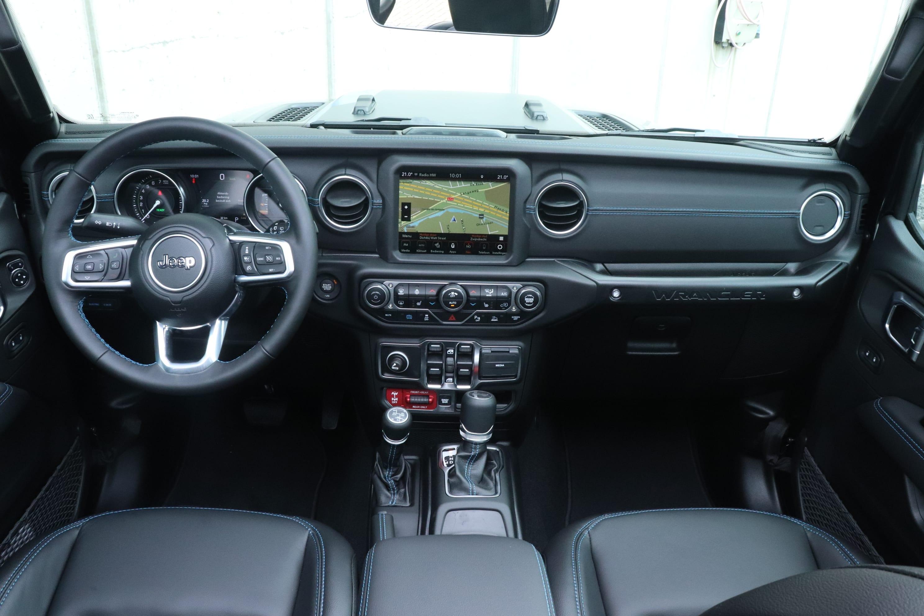 Jeep Wrangler Rubicon 4xe - interieur dashboard