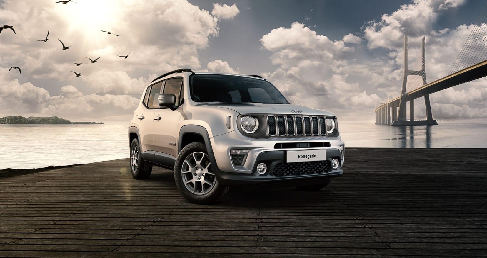 Jeep Renegade Limited grijs - schuin voorkant