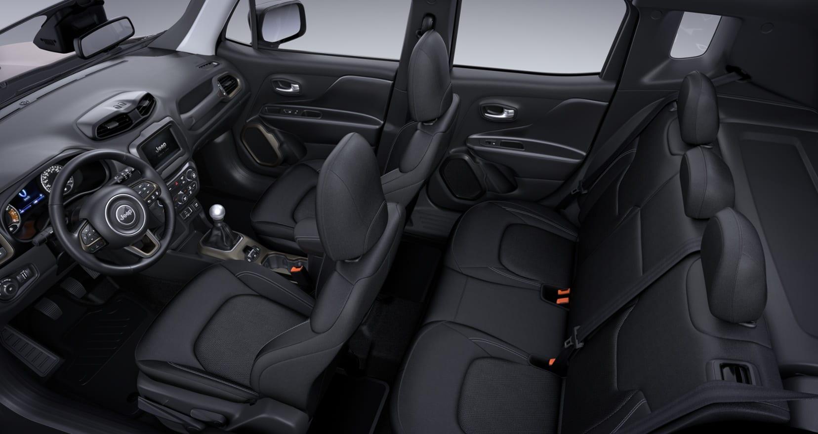 Jeep Renegade Limited - interieur bovenaf