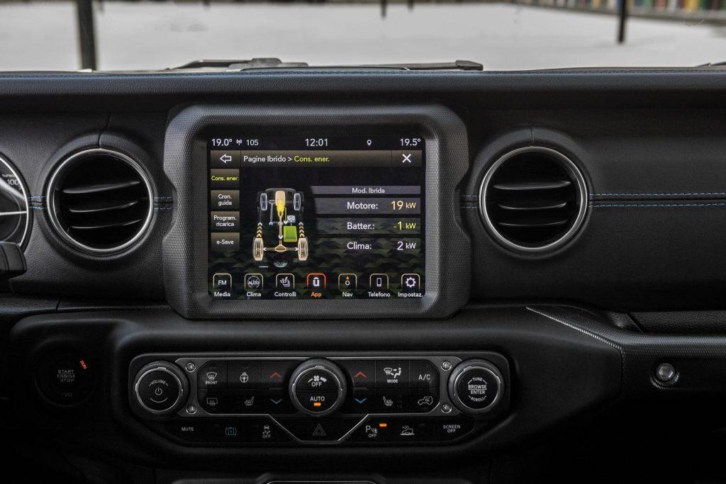 Jeep Wrangler 4xe Rubicon en 80th anniversary - infotainment systeem