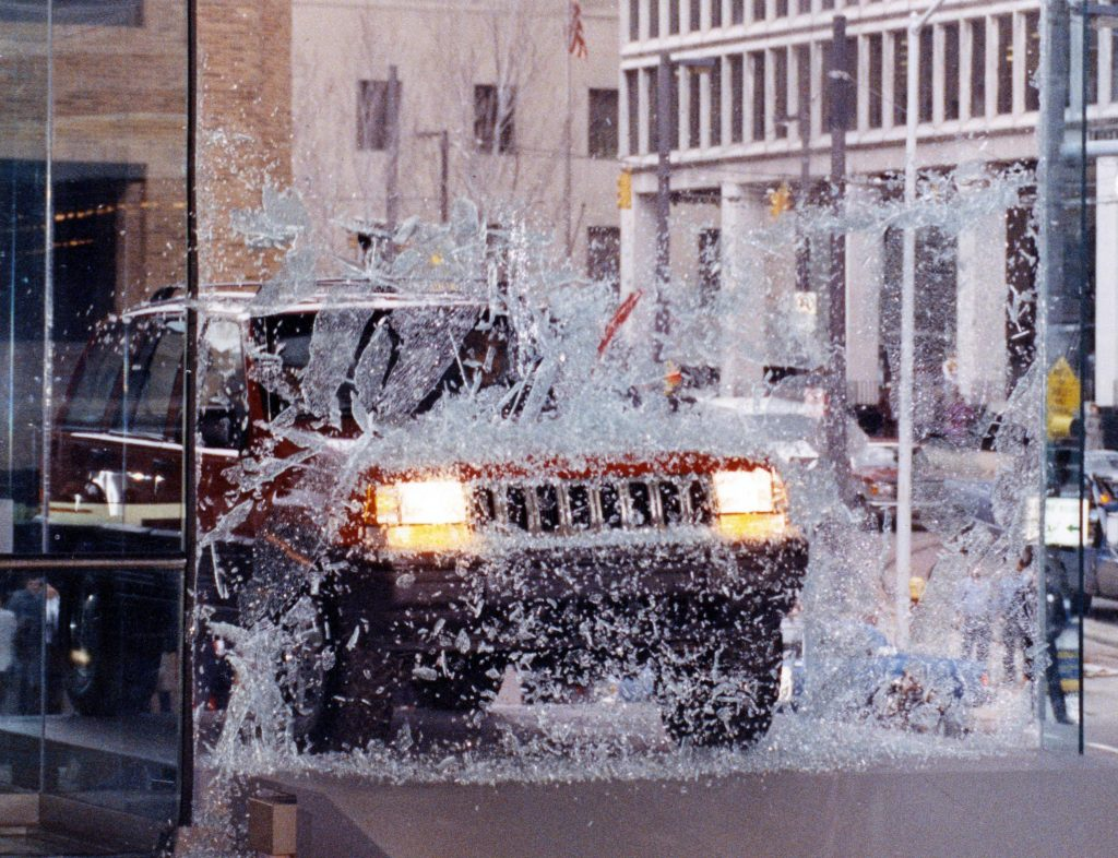 1992 Detroit Auto Show Jeep Through Glass