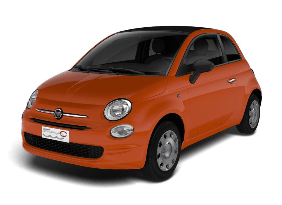 Fiat 500C cult Oranje - Schuin voorkant