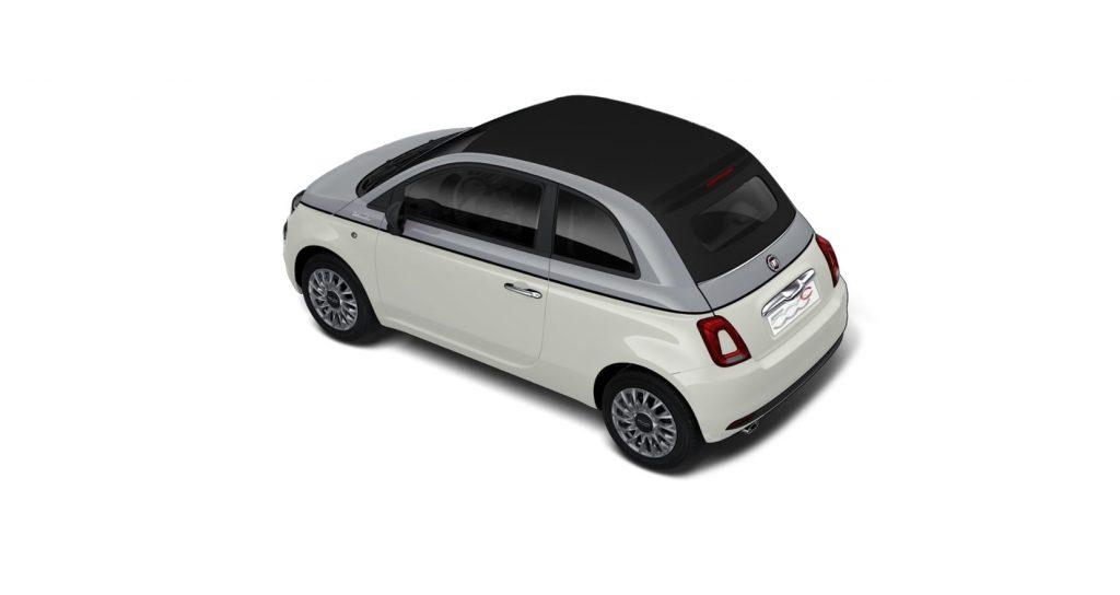 Fiat 500c dolcevita bicolore - schuin bovenkant
