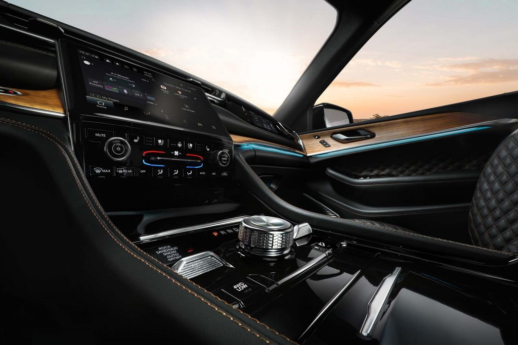 New 2022 Jeep® Grand Cherokee Summit Reserve - detail foto interieur middenconsole